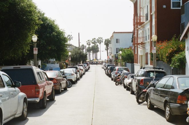 This street sure would look a lot prettier without all that metal lying everywhere