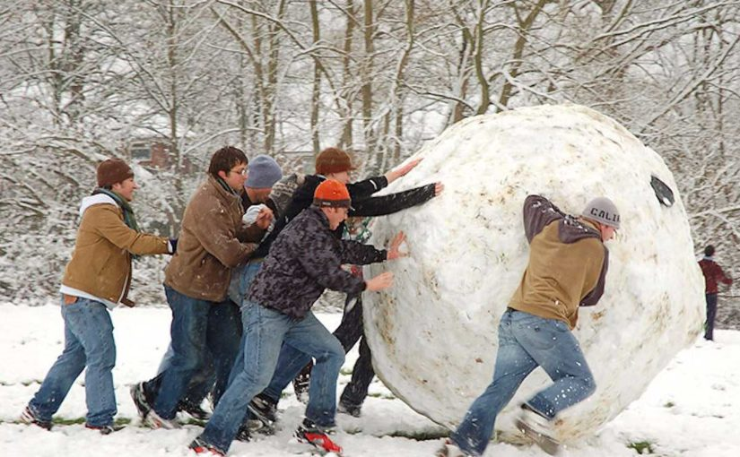 Once the snowball picks up momentum, it's hard to stop!