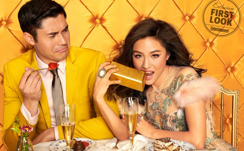 Constance Wu and Henry Golding photographed by Ruven Afanador on October 21, 2017 at Quixote studios in LA, CA for the film Crazy Rich Asians. Stylist: Hayley Atkin/The Wall Group; Wu's Hair: Mark Townsend/Dove Hair Care; Makeup: Molly Greenwald/Giorgio Armani/The Wall Group; Golding's Groomer: Jhizet Panosian/Baxter of California/Forward Artists; Manicurist Ashlie Johnson/Chanel Le Vernis/The Wall Group; Set Design: Charlotte Malmlof; Producer: Kim Lansill; Golding's Suit: Topman; Shirt: Zara; Shoes: Christian Louboutin; Wu's Dress: Marchesa; Shoes: Sarah Flint; Jewelry: Anabela Chan